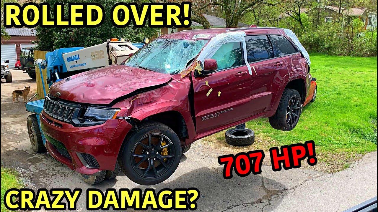 Rebuilding A Wrecked 2018 Jeep Trackhawk!!!