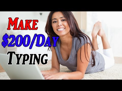How To Make Money By Typing 💰 ($200/Day Writing HACK)