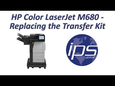 HP Color LaserJet M680 - Replacing the Transfer Kit