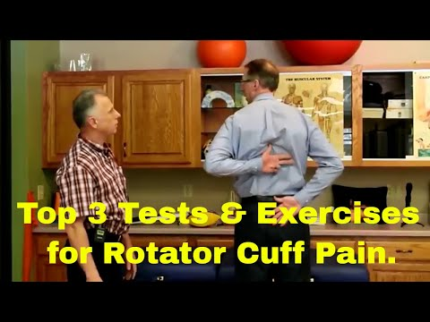 Top 3 Tests & Exercises for Rotator Cuff Pain.