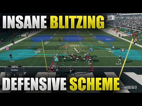 INSTANT PRESSURE DEFENSIVE SCHEME | RIDICULOUS BLITZING SCHEME | Madden 18 Blitz Tips