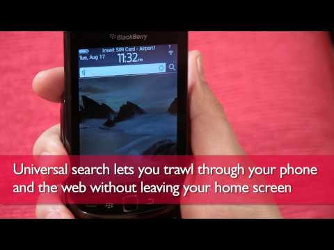 BlackBerry Torch 9800 hands-on video review UK