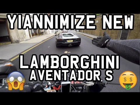 MY FRIEND YIANNIMIZE PICKED UP HIS NEW LAMBORGHINI AVENTADOR S*