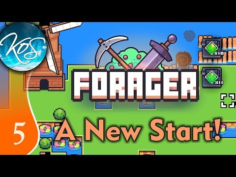Forager (Demo) Ep 5: LEVELING STRAT - Game 2 - Let's Play, Gameplay