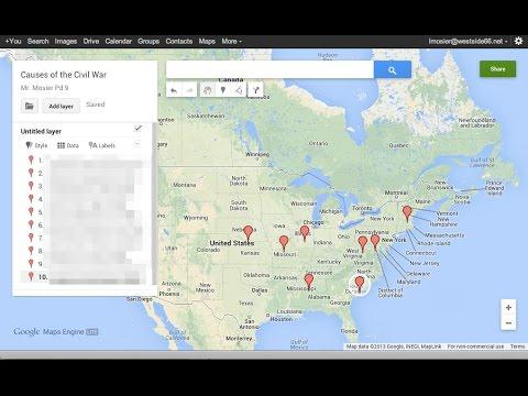 Setting Up Civil War Google Map Timeline