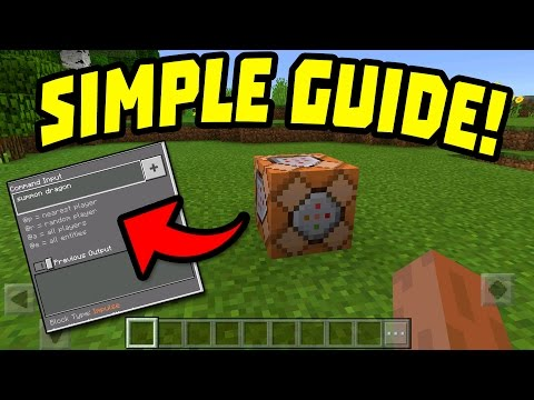 HOW TO USE COMMAND BLOCKS in MINECRAFT POCKET EDITION?!!