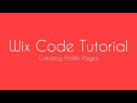 Wix Code Tutorial - Creating A Member Profile Page in Wix - Wix For Beginners