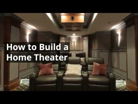 The Basics of How to Build a Home Theater