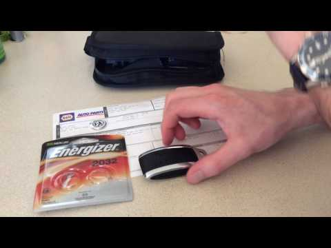 Jaguar XF Key fob battery replacement. Insanely Easy