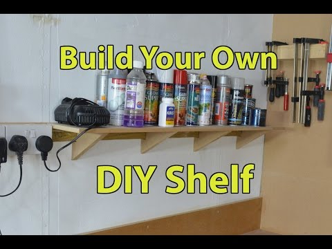 DIY Quick Simple Shelf from MDF