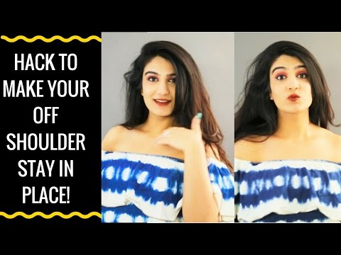 DIY: How to keep off shoulder tops in place
