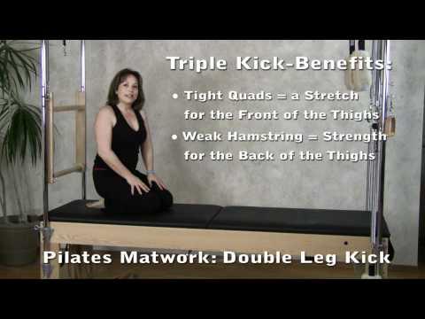 Pilates Matwork Exercise - Double Leg Kick for Knee Strength & Back Extension