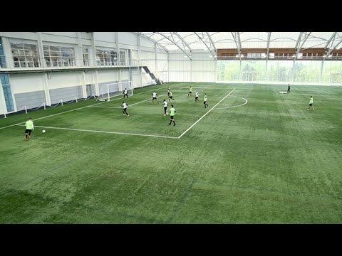 How to create space for a cross | Soccer training drill | Nike Academy