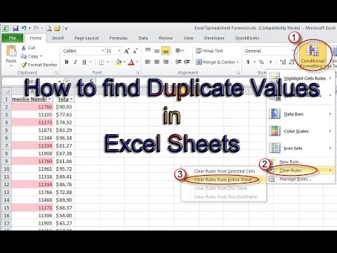How to find out Duplicate Values in Excel Sheets List