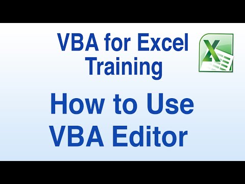VBA for Excel Tutorial - How to Use the VBA Editor in Excel