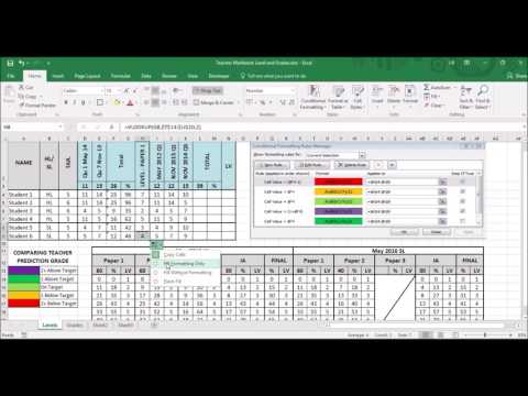 Microsoft Excel: how to track student progress (using levels)