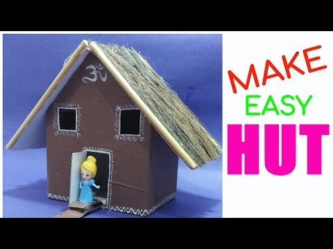 HOW TO MAKE HUT | BEST OUT OF WASTE COMPETITION | HUT CRAFT | EASY HUT | HUT WITH WASTE MATERIALS