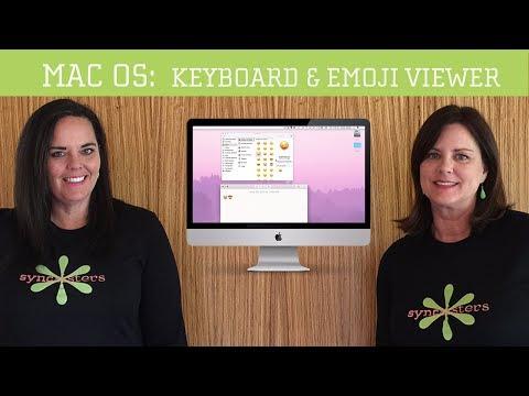Keyboard and Emoji Viewer - Mac OS