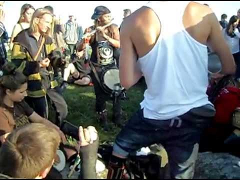 189. Drum Circle at Stonehenge Summer Solstice