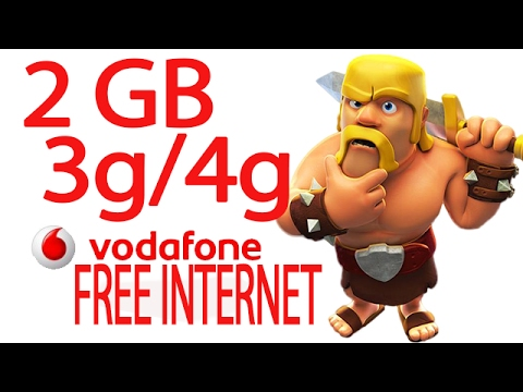 VODAFONE FREE NET | How TO Get 2GB 3G/4G Internet DATA For Free -100% WORKING | Hindi Video