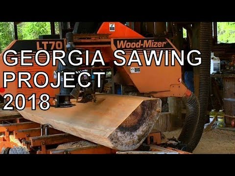 EPIC SAWMILL WEEKEND IN GEORGIA, WOOD-MIZER LT70 SAWING PINE AND SYCAMORE