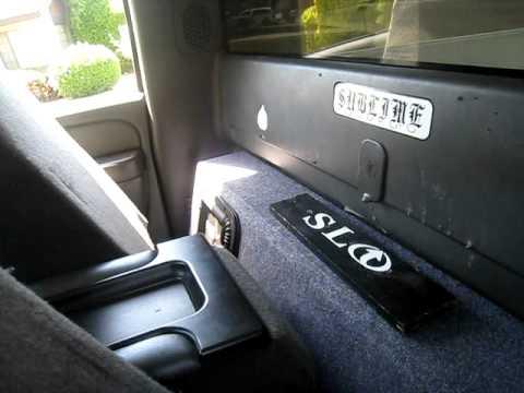 2 Kicker L5's 12in Chevy SIngle Cab 06 Rockford Fosgate p1000.1bd