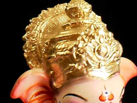 Paper Mache Small Ganesh Idol 2012