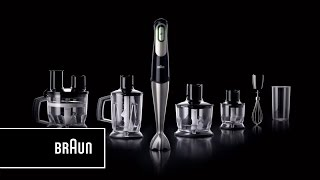 Braun Multiquick 7 Hand Blender- One squeeze.  All speeds | Introduction Long Version
