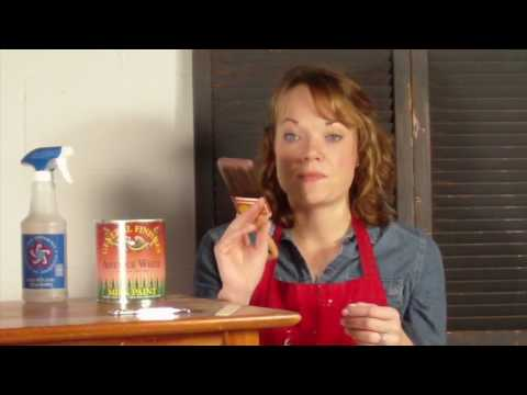 Furniture Painting Basics with General Finishes Milk Paint
