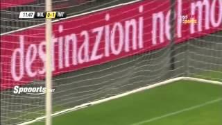 هدف مباراة إنتر ميلان 1 0 ميلان كأس لويجي برلوسكوني
