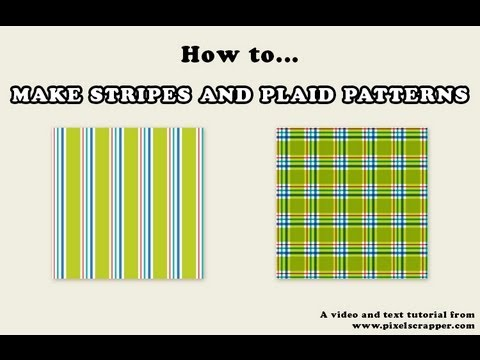 How to Make Striped and Plaid Patterns in Photoshop Tutorial