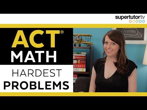 The HARDEST ACT Math Problems