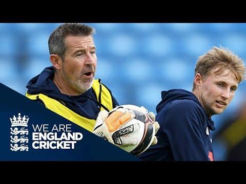 Former England Goalkeeper Nigel Martyn Plays Football With England Cricket Team