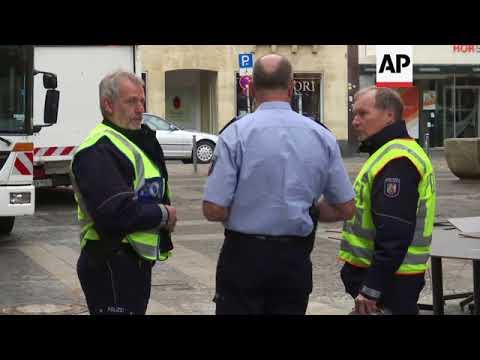 Morning scenes in Muenster, police comment on van crash probe