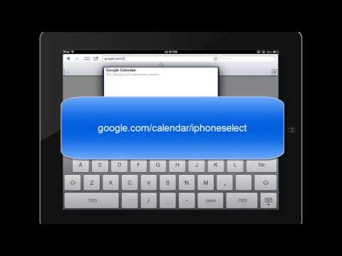 Setting up Your Gmail and Google Calendars on Your iPad