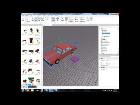 Roblox tutorial how to make a car Spawner Working easy (360p)