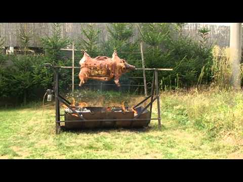 DIY pig grill + How to roast a whole pig recipe