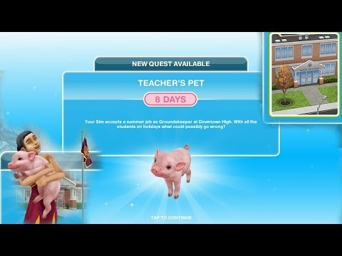 Simsfreeplay - Teacher's Pet Quest(Downtown High Update)