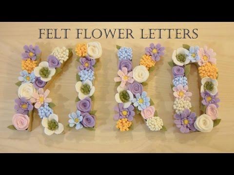 How to make felt flower letters