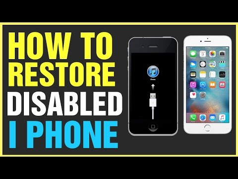 How to Fix Disabled iPhone by Connecting To iTunes Urdu/Hindi Tutorial