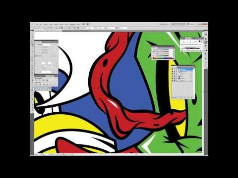 Inking and Coloring in Adobe Illustrator CS5 (Zombie Spray)