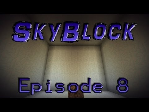 Minecraft- SkyBlock [8] Snow Building!