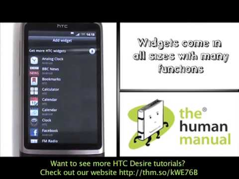 How to setup home screen shortcuts on your HTC Desire | The Human Manual
