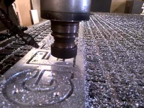 Routing aluminum letters