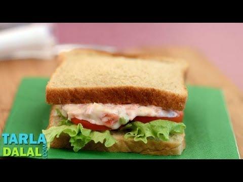 Carrot and Celery Sandwich by Tarla Dalal