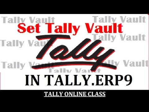 SET TALLY VAULT PASSWORD  IN TALLY.ERP9 /Data Security