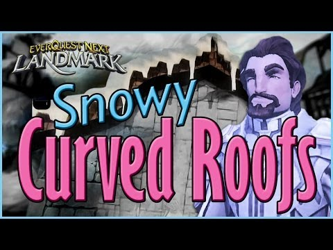 How To Voxel Landmark Tutorial: Snowy Curved Roofs
