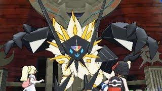Pokemon Ultra Sun and Moon - Necrozma + Solgaleo Battle