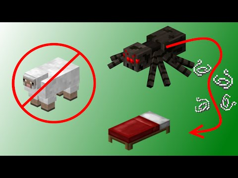 ✔ Minecraft: How to make a Bed without sheep!