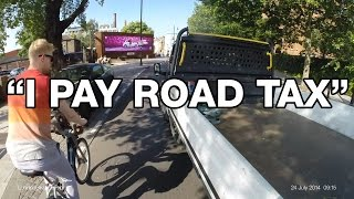 """#MoronAlert - """"I Pay Road Tax"""" - Plowing through cyclists at pinch point - YR12TGN"""